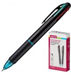 Шариковая ручка автоматическая четырехцветная Attache Luminate 0,5 мм
