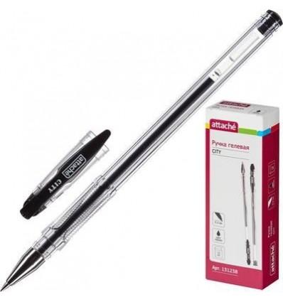 Ручка гелевая Attache City, 0.5мм, черная