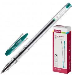 Ручка гелевая Attache City, 0.5мм, зеленая
