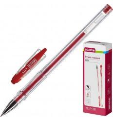 Ручка гелевая Attache City, 0.5мм, красная