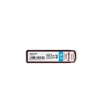 Стержни Rotring Tikky для мехаических карандашей, 2B, 0.7 мм, 12шт/уп