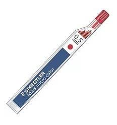 Цветной грифель STAEDTLER mars micro carbon COLOR 25405 для мехаических карандашей, 0.5мм, красный, 12шт/уп