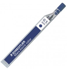 Цветной грифель STAEDTLER mars micro carbon COLOR 25405 для мехаических карандашей, 0.5мм, синий, 12шт/уп