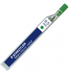 Цветной грифель STAEDTLER mars micro carbon COLOR 25405 для мехаических карандашей, 0.5мм, зеленый, 12шт/уп