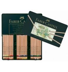 Набор цветных пастельных карандашей FABER-CASTELL Pitt, 60 цветов в металлической коробке