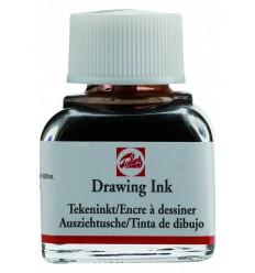 Тушь чертёжно-рисовальная Talens Drawing Ink, 11 мл., Цвет: №400 Коричневый