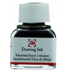Тушь чертёжно-рисовальная Talens Drawing Ink, 11 мл., Цвет: №715 Чёрно-коричневый