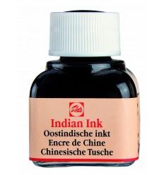 Тушь чертёжно-рисовальная Talens Indian Ink для каллиграфии, 11 мл., Черная