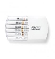 Набор маркеров двусторонних Pigment Marker Winsor Newton, 6шт телесных оттенков