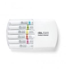Набор маркеров двусторонних Pigment Marker Winsor Newton, 6шт ярких оттенков