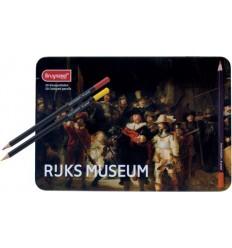 Набор цветных карандашей Bruynzeel RIJKS MUSEUM Ночной дозор Рембранд, 50 цветов в металлической коробке