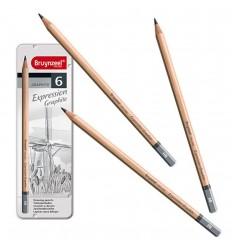 Набор графитовых карандашей BRUYNZEEL Expression Graphite, 6 шт (HB-8B)