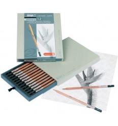 Набор графитовых карандашей BRUYNZEEL Design, 12 шт (2H-9B), в подарочной упаковке