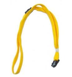 Текстильный шнурок Durable для бейджа 10 мм, безопасный замок,  желтый