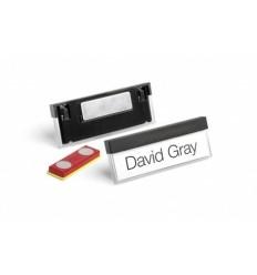 Бейдж с магнитным креплением Durable SELECT 8505, 17x67мм, черный