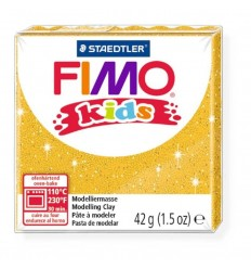 Глина полимерная STAEDTLER FIMO kids, 42г. - блестящий золотой