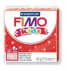 Глина полимерная STAEDTLER FIMO kids, 42г. - блестящий красный