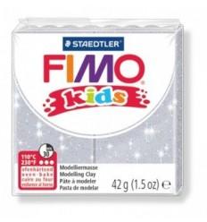 Глина полимерная STAEDTLER FIMO kids, 42г. - блестящий серебряный