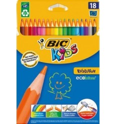 Набор цветных карандашей Bic Evolution, 18 цветов
