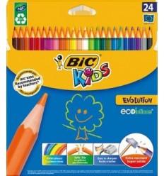 Набор цветных карандашей Bic Evolution, 24 цвета
