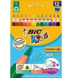 Набор цветных треугольных карандашей Bic Evolution, 12цвета