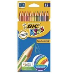 Набор цветных карандашей Bic Tropicolors, 12цвета