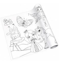 Раскраска в ролике Creative Info notes на клеящей основе, 300ммх4м, для девочек