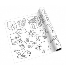 Раскраска в ролике Creative Info notes на клеящей основе, 300ммх4м, для мальчиков и девочек