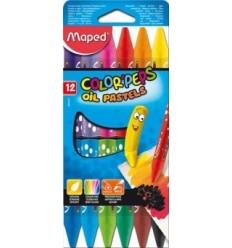 Масляная пастель MAPED Color'peps Oil Pastel 864010, 12 цветов.