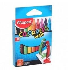 Восковые мелки MAPED Color'peps wax 861012, 18 цветов.