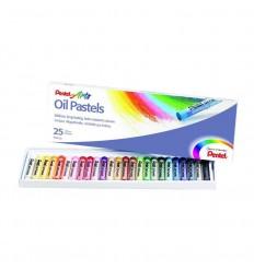 Масляная пастель Pentel Arts Oil Pastel, 25 цветов.