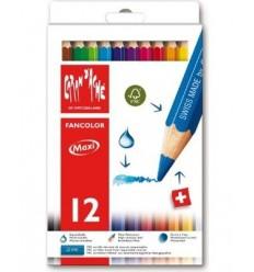 Набор акварельных цветных карандашей Caran d'Ache Fancolor , 12 цветов в картоне