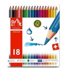 Набор акварельных цветных карандашей Caran d'Ache Fancolo, 18 цветов