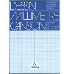 Бумага миллиметровая CANSON А4 21*29.7см, 90гр., синяя 50л/упак
