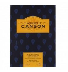 Альбом для акварели CANSON Heritage FIN (ФИН), 300гр., 26*36см  12л, среднее зерно, склейка