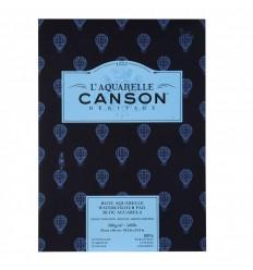 Альбом для акварели CANSON Heritage Torchon (Торшон), 300гр., 26*36см  12л, крупное зерно, склейка