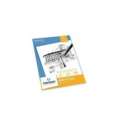 Альбом для графики CANSON Bristol, 180гр., А3 29.7*42см, 20л, склейка
