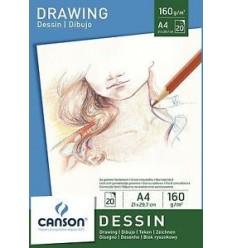Альбом для графики CANSON Dessin, 160гр., А4 21*29.7см  20л, склейка
