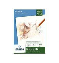 Альбом для графики CANSON Dessin, 160гр., А3 29.7*42см  20л, склейка