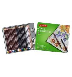 Набор карандашей DERWENT Colour Collection, 24 предмета в металлической коробке