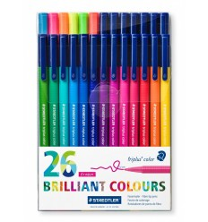 Набор фломастеров STAEDTLER Triplus Color, 26 цветов