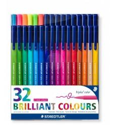 Набор фломастеров STAEDTLER Triplus Color, 32 цвета