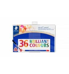 Набор цветных акварельных карандашей STAEDTLER ergosoft aqvarell, 36 цветов, в  металлической коробке