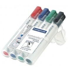 Набор маркеров для белых досок STAEDTLER Lumocolor, 2мм, 4цвета