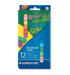 Мел цветной STAEDTLER Blacboard chalks 2360, 12 цветов