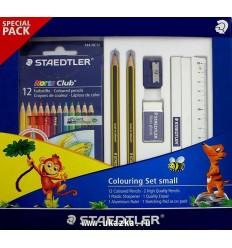 Набор для рисования STAEDTLER Noris Club, 12цветных карандашей, ластик, точилка, 2шт чернограф карандаш и линейка
