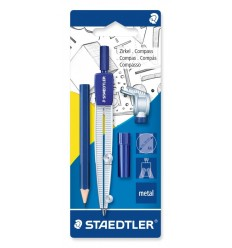 Циркуль STAEDTLER Noris Club 55060, (грифели, адаптер, карандаш)