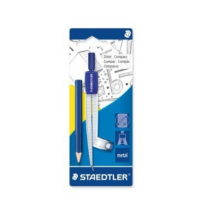 Циркуль STAEDTLER Noris Club 55055, встроенный адаптер + карандаш