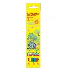 Карандаши цветные акварельные Каляка-маляка, 6 цветов