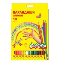 Карандаши цветные шестигранные Каляка-маляка, 18 цветов